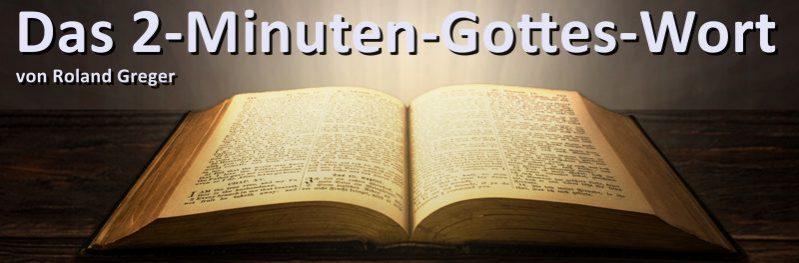 Das 2-Minuten-Gottes-Wort